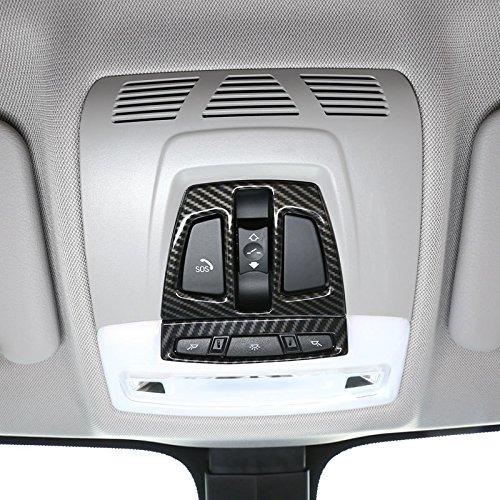 TOOGOO Kohlefaser f/ür BMW X1 F48 2017 X5 F15 X6 F16 3 Serie F30 GT F34 Auto Innenausstattung Vorderleselicht Abdeckung Trimmen f/ür BMW x2 f47