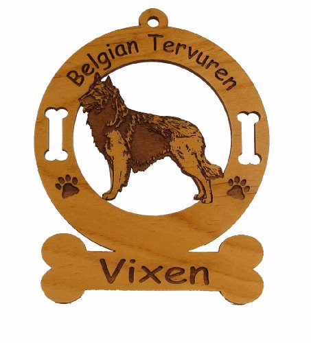 1675 Belgian Tervuren Standing Ornament Personalized with Your Dog's ()