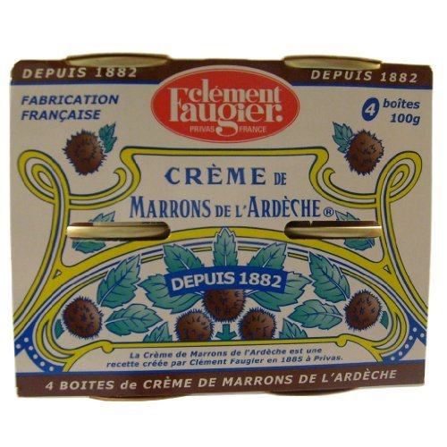 Clement Faugier Chestnut Spread Creme De Marrons Mini Cans - 4 x 3.5oz