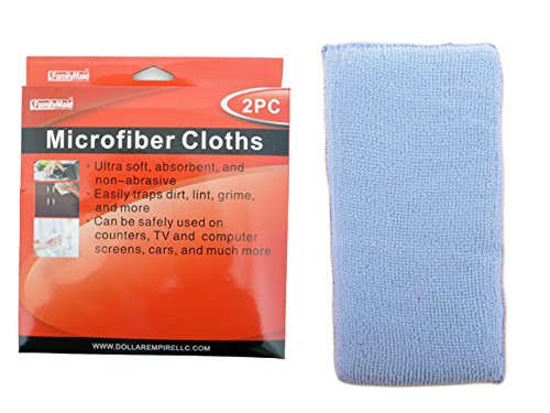 microfiber cloth 2pc, Case of 96 by DollarItemDirect