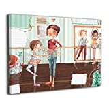 Little Monster Music and Dance Classroom Framed and Stretched Pictures On Canvas Wall Decorations Occident Style Art for Childrens Bedroom