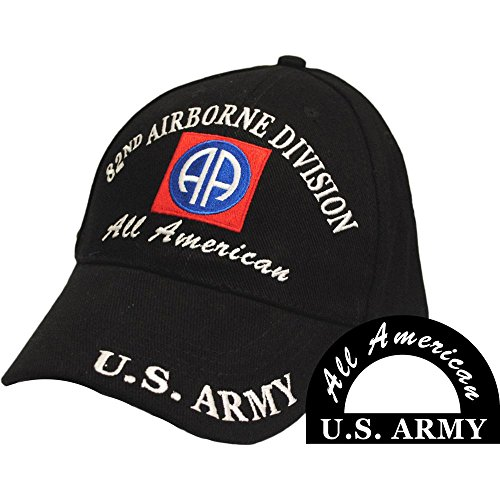 FindingKing U.S. Army 82nd Airborne All American Hat Black ()