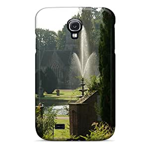 Hot Fashion DMrOaGu5211hpBQg Design Case Cover For Galaxy S4 Protective Case (ornamental Garden With Fountain)