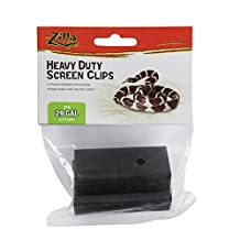 Zilla 29-Gallon and Under Screen Cover Metal Clips, Small