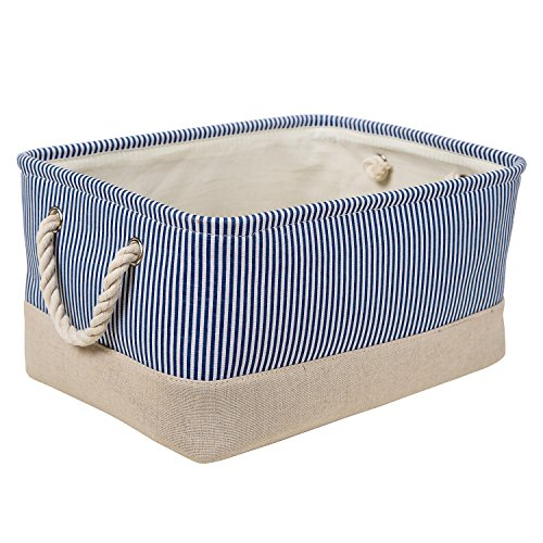 DAE Living Fabric Storage Bins (Set of 2) | Extra Stiff Canvas Fabric | Wire Framed | Fully Lined Interior | Perfect for Clothes, Toys, Shoes, Pet Supplies, Nurseries, Closet and Shelf Storage