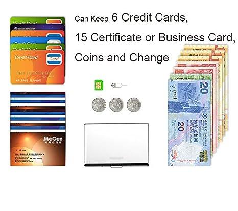 Funda de bloqueo para tarjeta de cr/édito de QIANHAI bloqueo de se/ñal con 6 ranuras para tarjetas dise/ño delgado
