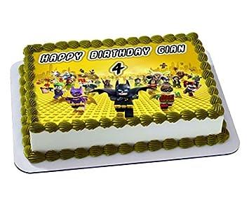 LEGO BATMAN Decoración comestible para tartas ...
