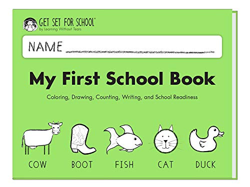 - Learning Without Tears - My First School Book Student Workbook, Current Edition - Get Set for School Series - Pre-K Writing Book - Social-Emotional, Pre-Writing Skills - for School or Home Use