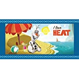 Disney Beach Towel Frozen Olaf Loves Heat Bath Towel 100% Cotton