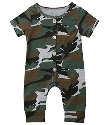 Emmababy Baby Boys Girls Jumpsuit Hoodie Romper Outfit Long Sleeve Creepers Bodysuit Clothes (0-6Months, (Cute Camo Clothes)