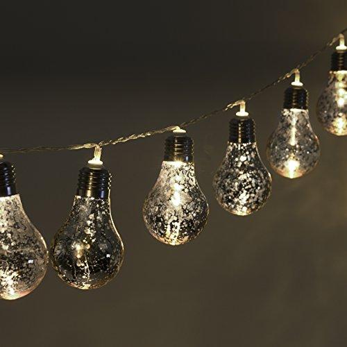 GreenLighting 10 Decorative Party String Lights Speckled Mer