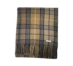 Manta de Tartan Tweeds, de lana tartán, alfombra para viajes y picnics