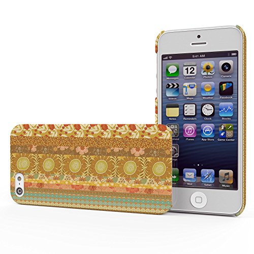 Koveru Back Cover Case for Apple iPhone 5S - Yellow Orange Pattern