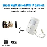 Conbrov® WF28 HD Wireless Home Wifi Ip Hidden Video Camera Security Nanny Cam with Super Night Vision and Motion Activated Detector Indoor Surveillance Use