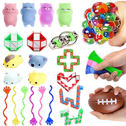 Dciko Fidget Toys Sensory Tools for Autistic Kids and Adults with ADHD Autism - Sensory Items Therapy Toys Keep Hands Busy Fidget Gadgets Stress Relief Toys for Classroom and Office (26 Pack)