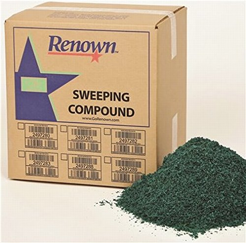 Grit Oil Base Sweeping Compound - Renown REN04003 Sweeping Compound Oil Base, with Grit, 2497281, 25 lb. Box, Green