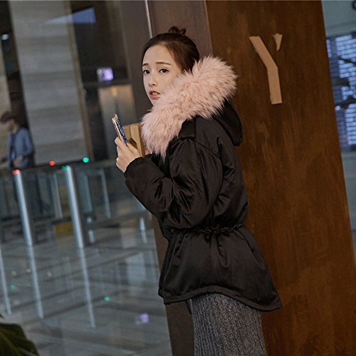 Xuanku T-Shirt Winter Dicke Frauen Kurzer Absatz Lose Hooded Großen Kragen Kragen Drapieren Jacke
