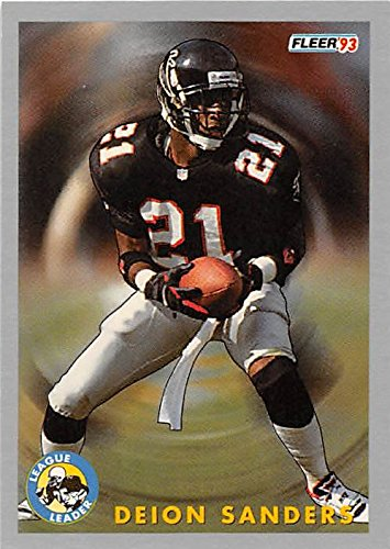 Deion Sanders Football Card (Atlanta Falcons Hall of fame Prime Time) 1993 Fleer #261 Kickoff Return Leaders (Of Falcons Fame Hall Atlanta)