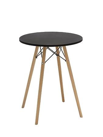 Esszimmertisch rund Tisch aus Holz Esstisch Duhome 173 SCHWARZ ...