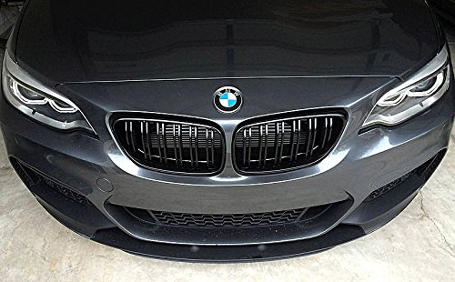 Price comparison product image M2 Style Matte Black Kidney Euro Front Sport Hood Grill For BMW 2 Series F22 F23 F87 2014