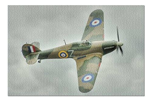 Hawker Hurricane - (Jeff Cook) (20x30 Premium 1000 Piece Jigsaw Puzzle, Made in USA!)