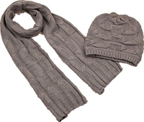 Winter Women Scarf Knitted Beige