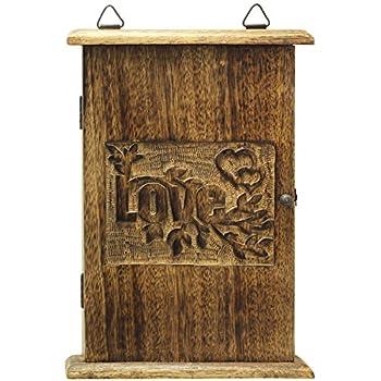 Elegant ... Holder   Premium Quality   Decorative Wooden Vintage Look Wall Mount  Key Cabinet / Key Rack / Key Organizer   Wood Hand Carved Decorative Key  Storage Good Ideas