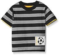 Gerber Graduates Boys Striped Short Sleeve T-Shirt, Gray/Navy, 12 Months