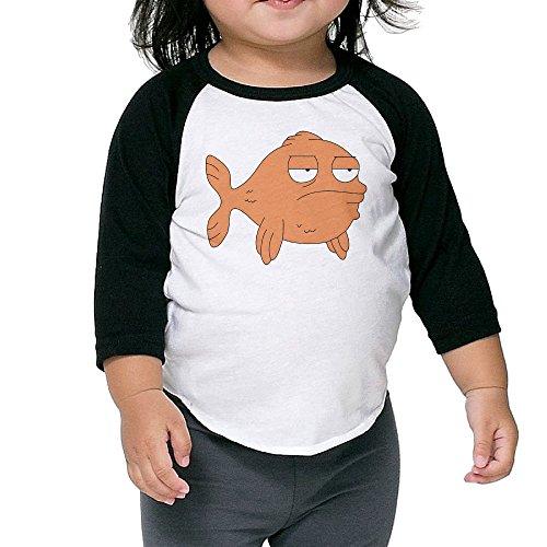 Kid's American Dad Klaus Toddler Boy Girl 3/4 Sleeve Raglan Tees 100% Cotton 2 Toddler -