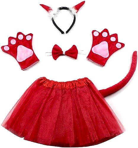 Disfraz de diablo diablo demonio - niña - tutú - diadema - guantes ...