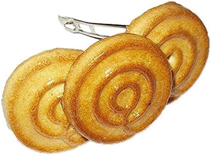 Ronda de las galletas - original erro Barrette - pinza para el pelo de cuero de piel de galletas, de pelo con diseño de clip, accesorios para el cabello, idea de regalo, regalo de cumpleaños diseño de
