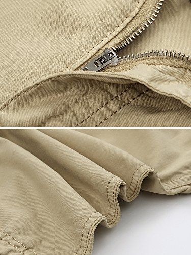 fd8febe4d2 OCHENTA Men's Cotton Loose Fit Multi Pocket Cargo Shorts | Weshop ...