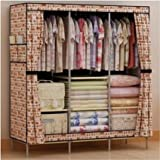 Generic New Portable Home Wardrobe Storage Hanger Closet Clothing Organizer Rack Garment