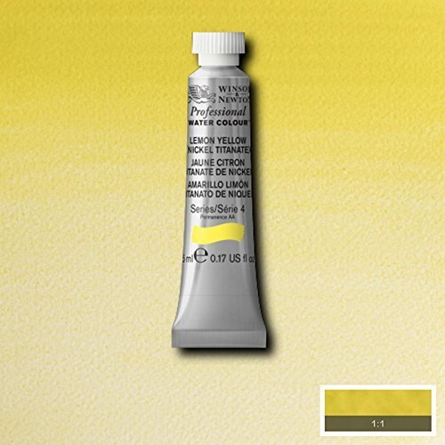 Winsor & Newton Artist Professional Watercolour Paint - 5ML Tube (Lemon (Cotman Watercolor Tubes)