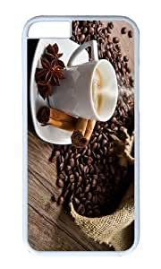 MOKSHOP Adorable Coffee Time Hard Case Protective Shell Cell Phone Cover For Apple Iphone 6 (4.7 Inch) - PC White