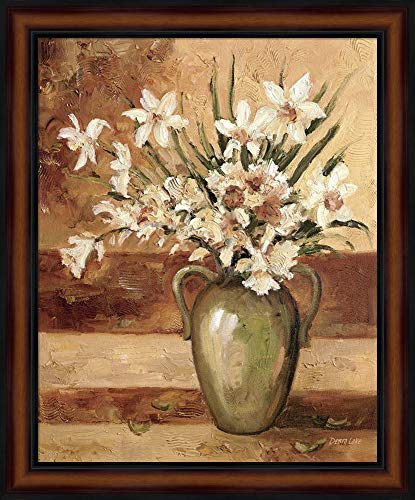 Early Summer Daffodils by Debra Lake Framed Art Print Wall Picture, Traditional Brown Frame, 19 x 23 inches