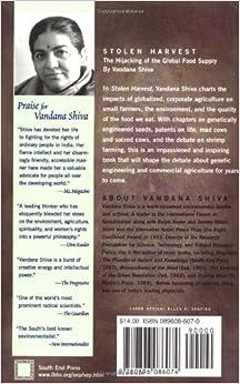 vandana shiva stolen harvest Stolen harvest by vandana shiva, 9781842770245, available at book depository with free delivery worldwide.