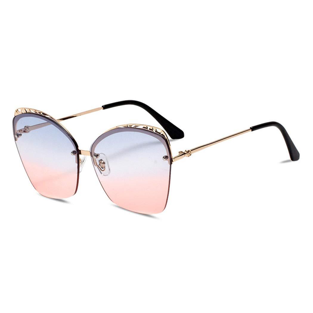 D 2019 new sunglasses ladies, frameless fashion sunglasses cat eye sunglasses