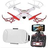 Striker Live Feed R/C Drone w/ Goggles Stream Birds Eye View Aerial Video
