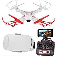 Striker Live Feed R/C Drone w/ Goggles Stream Birds Eye View Aerial Video