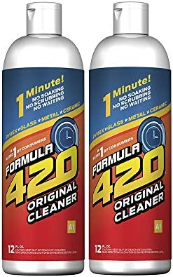 Formula 420 Cleaner - Pyrex, Glass, Metal and Ceramic - 12 Oz. Bottles. 2 Pack