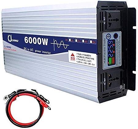 6000W portátil Coche Fuente de alimentación, DC12V / 24V a AC110V ...