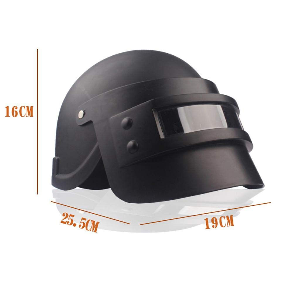 Simulation Battlegrounds Level 3 Helmet Cap Props(25.5x 19x 16cm),123Loop Game Cosplay Mask Battlegrounds Level 3 Helmet Cap Props by 123Loop (Image #3)