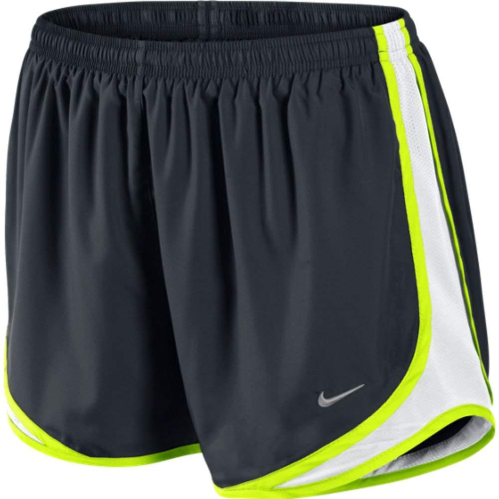 Nike Tempo Track 3.5'' Women's Athletic Short (Black/White/Volt/Matte Silver, X-Small) by Nike