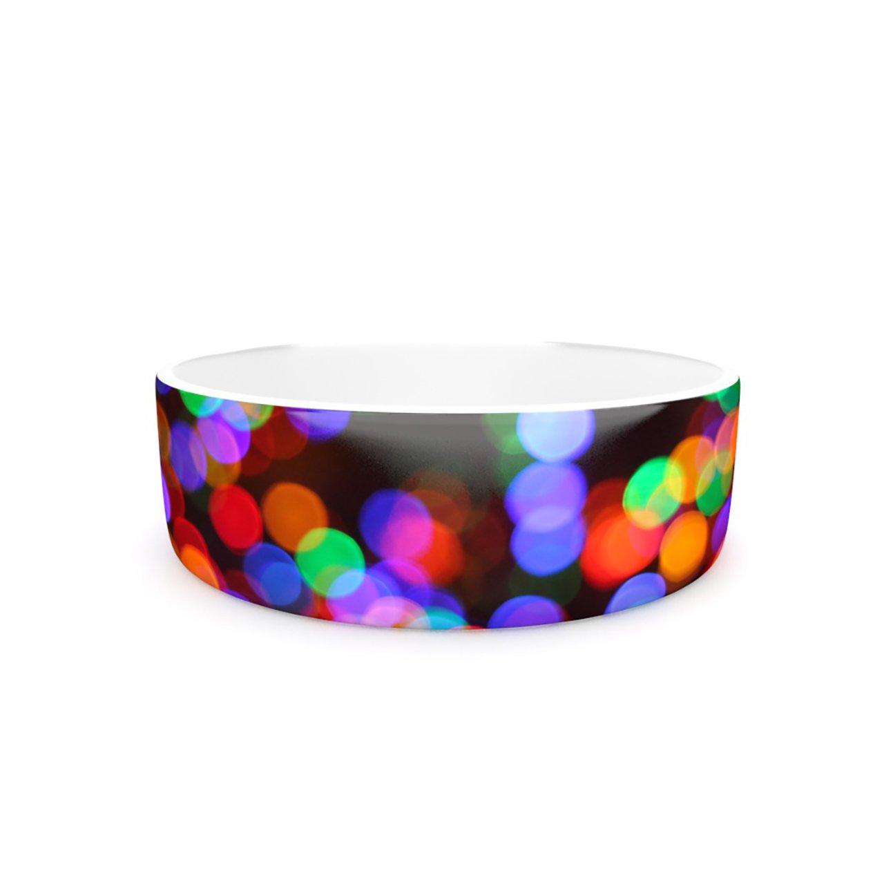 Kess InHouse Maynard Logan Lights II  Pet Bowl, 7-Inch
