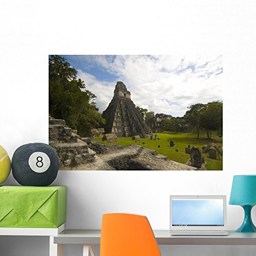 (Wallmonkeys Great Plaza Tikal Guatemala Wall Decal Peel and Stick Graphic WM242232 (36 in W x 24 in H))