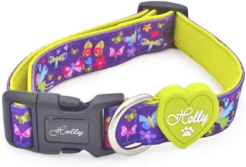 Holly Mascotas Collar para Perros con Interior De Neopreno para M/áximo Confort L, Arco Iris