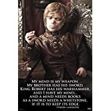 Game of Thrones Tyrion My Mind... Quote Poster (24 x 36 inches)