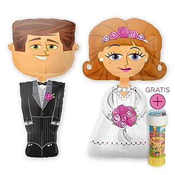 Das Hochzeits Set Airwalker Brautpaar Braut Brautigam Je 127cm