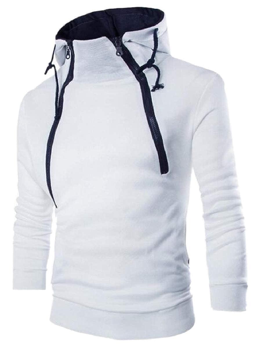 FLCH+YIGE Women High Neck Zipper Long Sleeve Stylish Outwear Hooded Coat Jacket